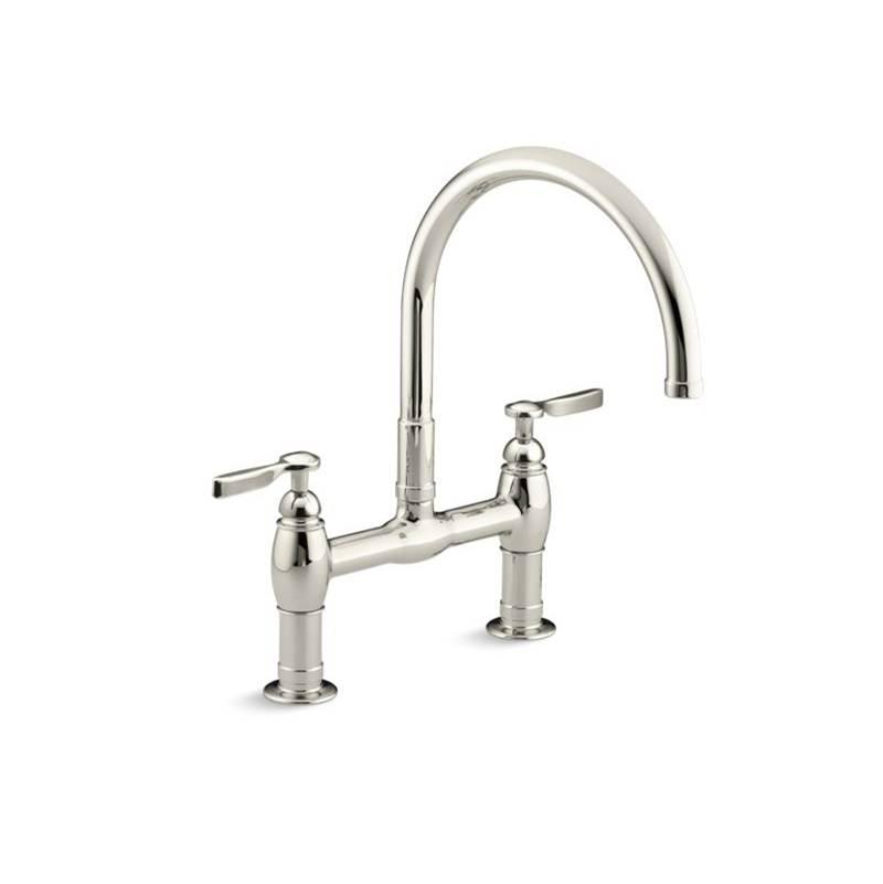 Kohler 6130 4 Sn At Dahl Decor Bridge Kitchen Faucets In A
